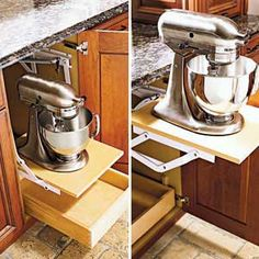pop-up shelf by Wood Mode and Kitchen Aid mixer... can't beat that! (pun intended)