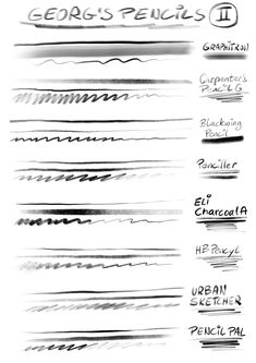 30+ PENCIL & CHARCOAL Brushes by Georg's Procreate Brushes on @creativemarket