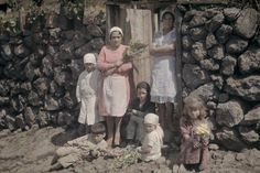 Two women and their children stand outside of a stone cottage. People Around The World, Around The Worlds, National Geographic Images, Photo Processing, Canary Islands, Image Collection, More Photos, The Outsiders, Spain