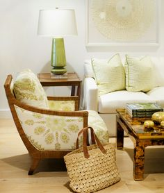 Home Couture Persepolis chair with China Seas Melong Batik pillows