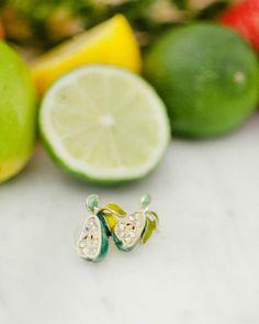 Pear Jeweled Stud Earring
