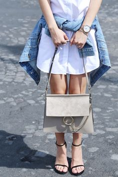 b99df7fad8ee Stuart Weitzman nudist sandals   Chloé Faye bag in motty grey - Read on for  Paris shopping tips! - by Stella Asteria