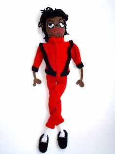 Knitted Michael Jackson thriller by poupeetsoso. #Amigurumi #Doll