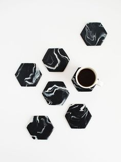 DIY Black Marble Hex