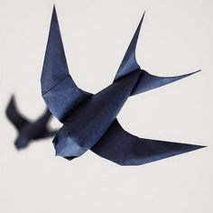 Tektonten Papercraft: Origami Swallow