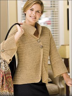 The Bottom Line Jacket By Tammy Hildebrand - Free Crochet Pattern With Website Registration - (free-crochet)