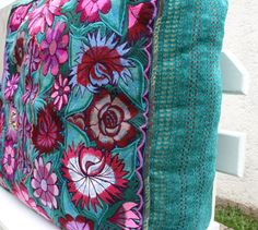 San Cristobal Embroidered Upcycled Chiapas shawl