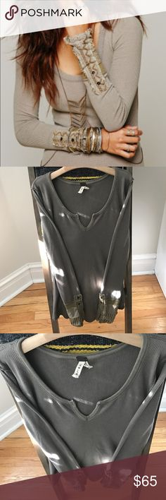 Free People mushroom Kyoto In excellent condition!! Size L Free People Tops Tees - Long Sleeve