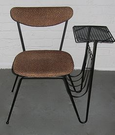 MidCentury Wrought Iron Chair Gossip by lavintagefurnishings