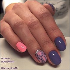 Pretty accent nail art - @pelikh_одноклассники