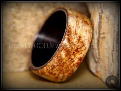 Bentwood Ring Marbled Maple Burl Wood Ring by BENTWOODJewelry