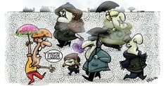 "A cartunista Pryscila contesta o título de ""Cidade Sorriso"" de Curitiba durante esse inverno"