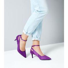 Designer Clothes, Shoes & Bags for Women Purple Satin, Stiletto Heels, Pumps, Shoe Bag, Polyvore, Stuff To Buy, Shopping, Shoes, Design