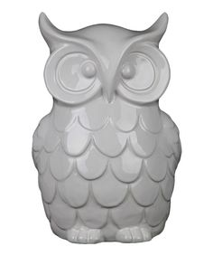 Look at this Small White Ceramic White Owl Figurine on #zulily today!
