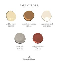 Celebrate the season by decking your home in the colors of fall. Take the outdoors in with our fall color inspiration, like Golden Straw 2152-50 and Greenfield Pumpkin HC-40.