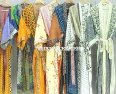 Assorted Kimono robe lot Bridesmaid Proposal Floral Robe -Bridesmaid Robes -Women's Clothing-Kimono Robes/Discount for Multi Orders Bridesmaid Robes, Bridesmaid Proposal, Funky Fashion, Indian Fashion, Women's Fashion, Reversible Skirt, Wedding Kimono, Quality Lingerie, Long Kimono