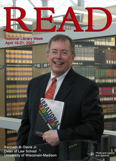 "2007 READ Poster featuring former Dean Kenneth B. Davis Jr. reading ""Irrational Exuberance"" by Robert Shiller."