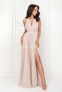 ELISA długa rzymianka nude Bridesmaid Dresses, Prom Dresses, Formal Dresses, Wedding Dresses, Gladiolus, I Love Makeup, Shopper Tote, Givenchy, Model