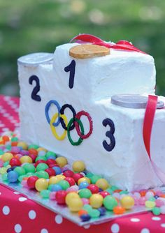 Find out how to make this proud podium cake and get the recipe on our website.