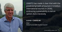 The @unwto and Luigi Cabrini Chair of the Global Sustainable Tourism Council address the necessity for sustainable tourism. #sustainabletourism #responsibletourism #ecotourism #sustainability #tourism #travel #green #leader #instatravel Re-post by Hold With Hope