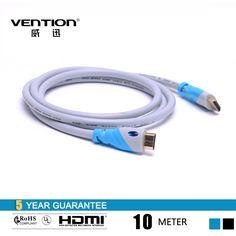 Дешевое 10 м льда синий цвет цифровой HDMI кабель высокое качество между мужчинами кабель HDMI 1.4 В 1080 P HD w / Ethernet 3D Ready HDTV, Купить Качество HDMI непосредственно из китайских фирмах-поставщиках: Vention flat Blue Audio Cable 3.5mm to 3.5 mm jack aux cable for car 1M/3FT FOR Headphone/PC/MP3/DVD/HDTV/MobilephoneUS