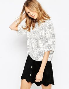 Influence Floral Boxy Top