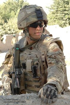 A Royal Marine from 40 Commando on patrol in the Sangin area of Afghanistan.