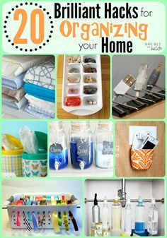 Some of the greatest hacks for organizing on a small budget! #organizingyourhome