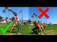 Extreme Yoga Challenge at Laguna Beach | The Rybka Twins - YouTube