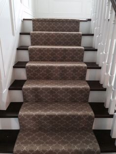 Staircase runner at a clients new home. Carpet by Masland.