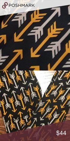 76edbbcd62cff0 Lularoe black/yellow/grey arrow leggings os new Lularoe OS leggings. Brand  new