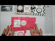 Stampin' Up! ... cardmaking video tutorial: Window Slider card with Dawn - YouTube ... great cards ...