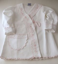 Hand Embroidered Bath Robe Designer Outfit Girl Cottonwhite | eBay