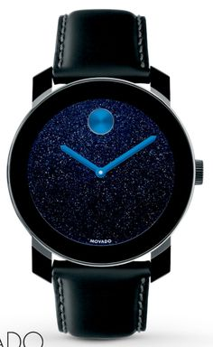 Movado Bold watch with starry background. #watches #space
