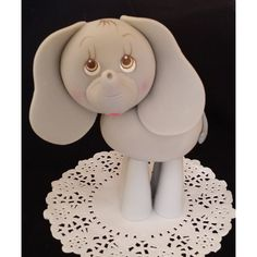 Blue Elephant Cake Topper, Elephant Baby Shower, Elephant Cake Topper, Elephant in Pink, Blue or Gray - Cake Toppers Boutique  - 4