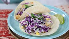 Served with a creamy corn slaw, these easy cod fish tacos featured chili powder, lime, and avocado for a new take on taco Tuesday. Tilapia Recipes, Fish Recipes, Seafood Recipes, Mexican Food Recipes, Cooking Recipes, Cooking Tips, Cod Fish Tacos, Easy Summer Meals, Summer Recipes