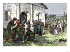 California-mission-with-soldiers-and-slaves.jpg 473×354 pixels