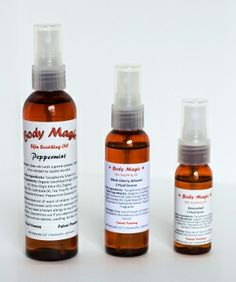 Body Magic is a combination of all natural oils used to soothe and moisturize every part of the body. Natural Oils, Moisturizer, Magic, Wine, Bottle, Products, Moisturiser, Flask, Jars