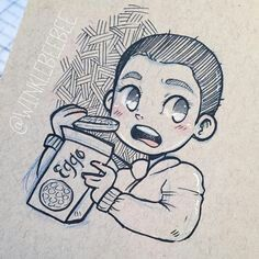 I'm swamped with Bee Box orders and my… Bobby Brown Stranger Things, Eleven Stranger Things, Stranger Things Season, Pretty Drawings, Amazing Drawings, Easy Drawings, Bee Boxes, Drawing Projects, Daily Drawing