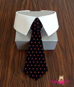 Black and Orange Dog Tie with Shirt Collar or Individual Removable Dog Neck Tie or Bow Tie