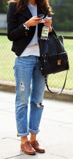 Oxfords & Boyfriend Jeans