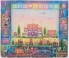 Gross Arnold: Ablakban - rezkarc Vintage World Maps, Cottage, Paintings, Artists, Paint, Painting Art, Cabin, Painting, Portrait