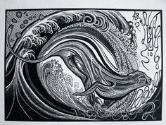 The Smoke that Thunders Wood Engraving Woodblock by Ben Parsons