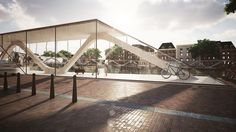 Amsterdam Iconic Pedestrian Bridge Proposal / PLUSRchitecture – IoannisKarrasArchitectureStudio