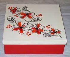 Painted Wooden Boxes, Wood Crafts, Diy Crafts, Posca Art, Decoupage Vintage, Pretty Box, Magazine Crafts, Cold Porcelain, Keepsake Boxes