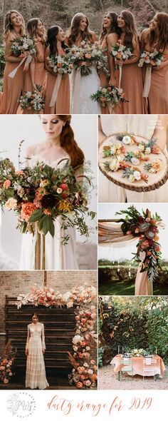 2019 wedding color inspiration - dusty orange Tuscan Wedding, Fall Wedding, Rustic Wedding, Dream Wedding, Wedding Stuff, Wedding Color Combinations, Wedding Color Schemes, Orange Wedding Invitations, Orange Wedding Colors