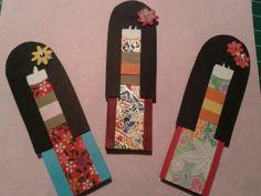 Bookmark doll japanese