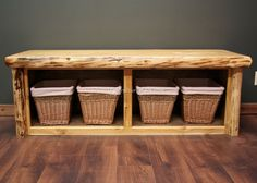 how cool is this...Rustic Bedroom Benches: Country Bedroom Bench, Log Bed Benches, Cottage Bed Bench