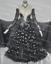 2014 nuovo stile high - end colore bianco concorso ballroom standard vestito da ballo , girasole dancedress(China (Mainland))