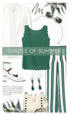 """Green shades of Summer"" by xiandrina ❤ liked on Polyvore featuring Joie, Salvatore Ferragamo, Ray-Ban, Rebecca Minkoff, NOVICA and Laura Mercier"